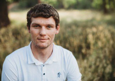 Portrait of high school senior boy